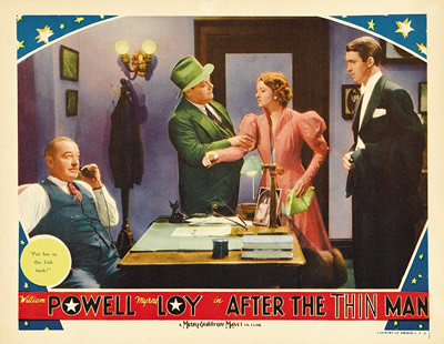 After the Thin Man (1936), Murphy is in the green suit holding Myrna Loy's arm.